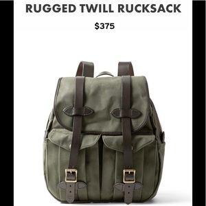 Filson genuine leather back pack